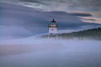 Fog coming in at Grand Marais Lighthouse #3