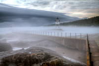 Fog coming in at Grand Marais Lighthouse #2